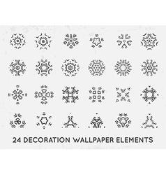 Set of minimal decoration background vintage vector image vector image