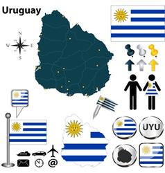 Uruguay map vector image vector image