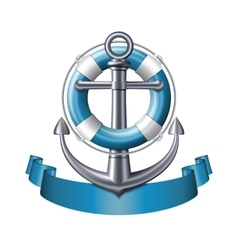 Anchor emblem vector