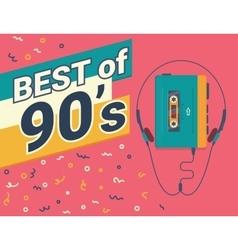 Best of 90s vector image