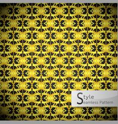 floral mesh loop gold vintage geometric seamless vector image vector image