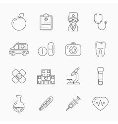 Medicine thin line icons vector image vector image