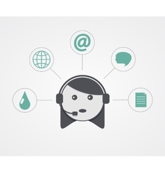 modern support woman with sample icon on vector image