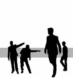 posing people vector image