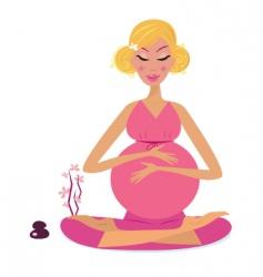pregnant Yoga vector image vector image
