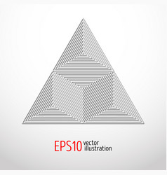realistic white triangle with high tech design for vector image