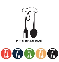 restaurant and pub negative space concept and web vector image