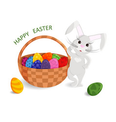 1 cute greeting card of happy easter vector image