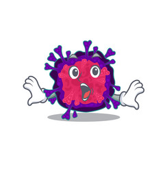 A cartoon nyctacovirus making surprised gesture vector