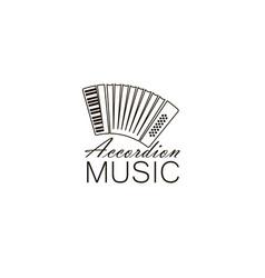 Abstract accordion emblem vector