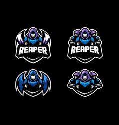 Abstract reaper concept design template vector