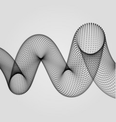 Abstract spiral 3d vector