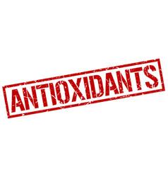 Antioxidants stamp vector