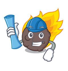 Architect meteorite character cartoon style vector