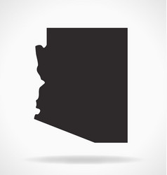 Arizona state map simplified vector