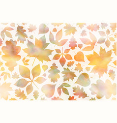 autumn background with falling maple and oak leaf vector image