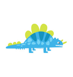 blue cute styracosaurus prehistoric animal vector image