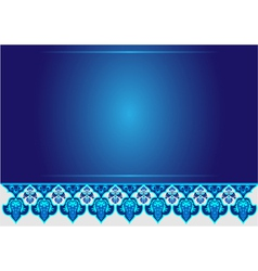 blue ottoman serial patterns twelve vector image