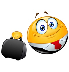 business emoticon vector image