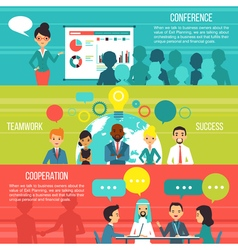 Business People Horizontal Banners vector