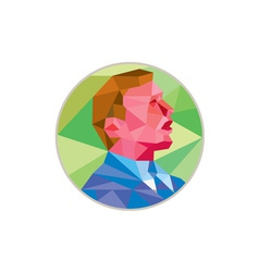 Businessman Looking Up Circle Low Polygon vector image
