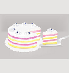 Cake festive background vector