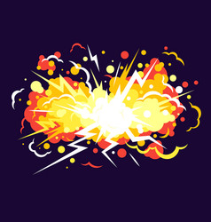 cartoon explosion background vector image