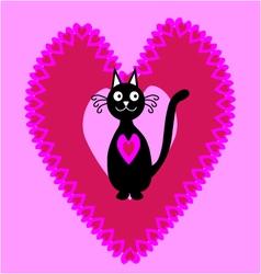 Cat in Love vector
