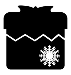 Christmas box icon simple style vector image