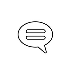 comment line icon black vector image