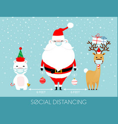 covid19-19 and social distancing infographic vector image