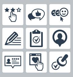 customer testimonials icon set vector image