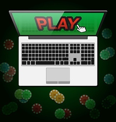 Design of banner casino online in vector