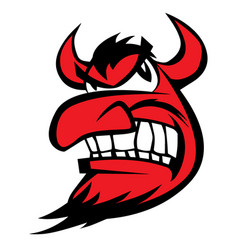 devil face character cartoon vector image