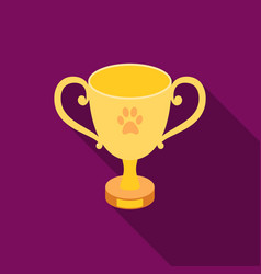 dog award icon in flat style for web vector image