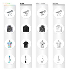 Drying device dry-cleaning jacket dirty t-shirt vector