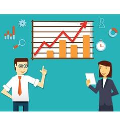 Ecommerce market of web analytics vector