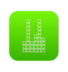 equalizer icon green vector image