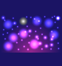 Fantastic starry sky lilac cosmic background vector