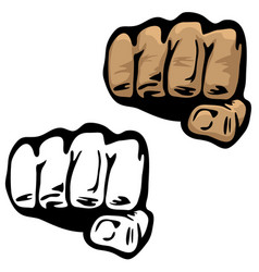 fist hand vector image