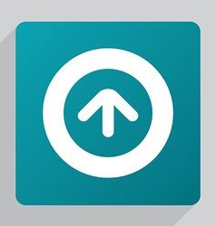 flat arrow up icon vector image