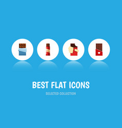 flat icon sweet set of shaped box sweet bitter vector image