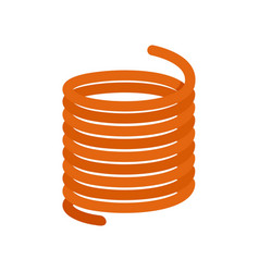 Flexible cable icon flat style vector