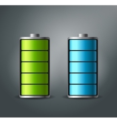 Fully charged battery smartphone - vector image
