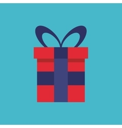 Gift box present flat icon vector