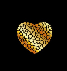 Gold heart fillings vector