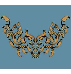 Gold leaf pattern vector