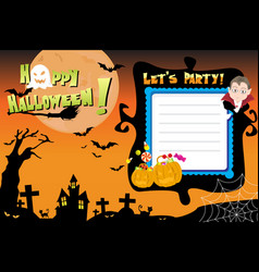 halloween invitation flyer vector image