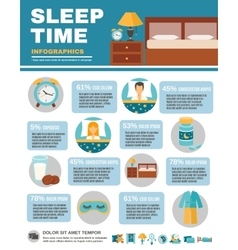 Infographic Sleep Time vector