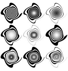irregular spirals spiral vortex swirl elements in vector image